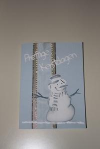 simpele kaart met sneeuwpop