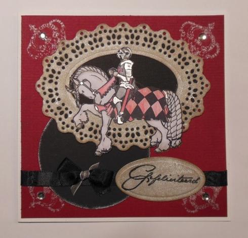 Gothic verjaardagskaart met Stampinback stempel