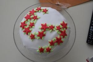 Kerst 2012 poinsetta taart