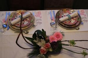 Kerst 2012 Tafel + bloemstukje