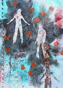 Happy Dance Art Journal Page