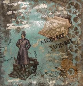 Monday Monday Acrylic Art Journal page