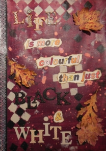 Art Journal colourful with acrylic paint