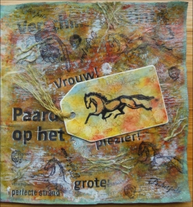 Perfect Pair Vrouw & Paard Art Journal page