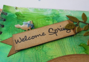 Welcome Spring Tim Holtz 12 tags of 2013 March bird