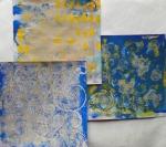 gelli plate fun met stencils en stempels