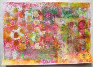 gelli plate fun met stencils