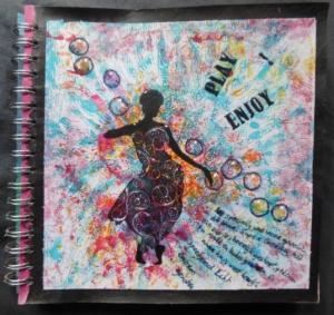 Play & Enjoy Journal Page met Gelli Plate