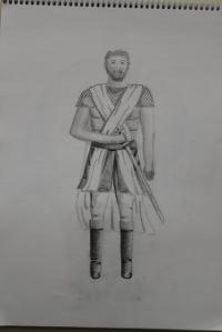 Schets krijger