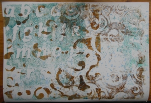 Art Journal background with gelli plate