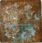 clean up gelli plate pull blues and browns