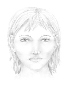 getekend gezicht met potlood H en B