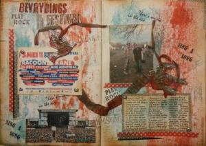 Tim Holtz 12 tags Art Journal page Bevrijdingsdag