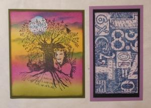 kaartje en tag met nieuwe Art Journey stempels