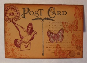 Mini briefkaartje met Art Journey stempels