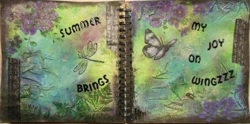 Summer on wings spread lamplight