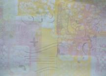1e sessie met echte  gelli plate page 2