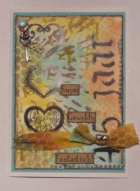 2013-09-23 aniversary card Tim Holtz 12 tags september