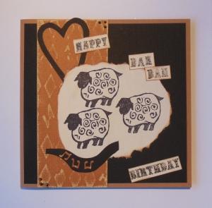 2013-10-19 verjaardagskaart met zelf gesneden stempel