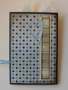 2013-11-09 kaart voor Inge met chalkboard achterkant