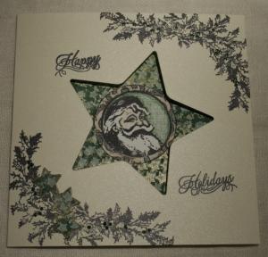 2013-12-17 kerstkaart met Bo Bunny stempels voorkant