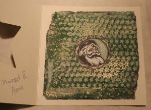 2013-12-17 kerstkaart met gelliplate en Bo Bunny stempel