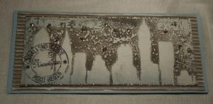 2013-12-17 kerstkaart met gelliprint en Stampendous glass glitter