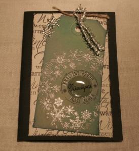 2013-12-17 kerstkaart met zilver embossing