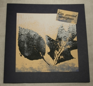 2013-12-17 monoprint kerstkaart