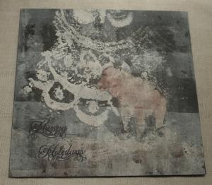 2013-12-17 monoprint shabloon druk kerstkaart