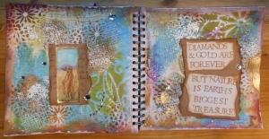 2014-01-26 Art Journal page met Moo