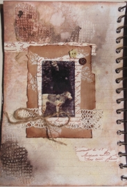 2014-02-07 Art Journal left page tape transfer Friesche Windhond