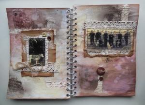 2014-02-07 Art Journal page tape transfer Friesche Windhond
