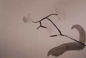 oefening chinees penseel schilderen orchidee