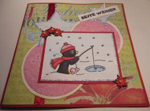 2014-04-28 kerstkaart met Elzybells en Prima design en glitter