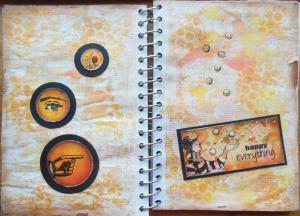 Art Journal page nieuwe spulletjes Art Specially 2014