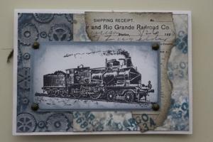 Vintage spoorwegen kaart voorkant