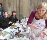 Workshop flesje maken bij Grietje Art Specially 2014