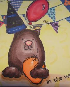 2014-05-01 verjaardagskaart met Art Specially stempels en copics close up