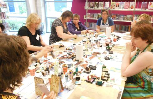 Art Journey dagen workshop olv Liesbeth Fidder
