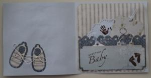Geboortekaartje met Art Journey stempels 002