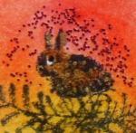 Zelf Chunk maken met Art Journey stempeltje konijn1