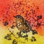 Zelf Chunk maken met Art Journey stempeltje vogel1