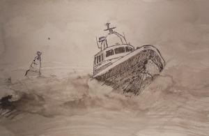 reddingsboot bamboopen en oostindische inkt