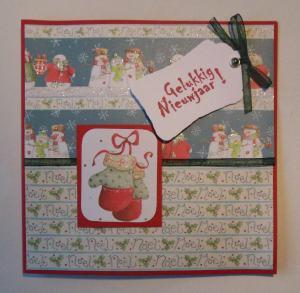 2014-12-20 kerstkaart met First edition papier en tag