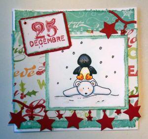 2014-12-20 kerstkaart met Imaginisce papier en elzybells