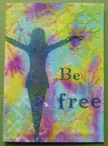 ATC Be Free with Art Journey and Gelatos