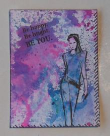 ATC Be you with dylusions and stampinback