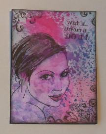 ATC Do it with dylusions and Stampinback
