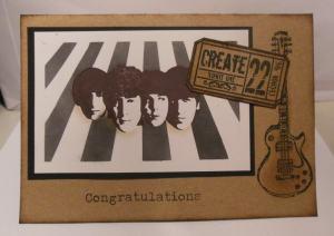 2015-05-08 Verjaardagskaart met Beatle stempel en craft